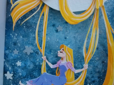 Tangled Gouache Papercraft Painting