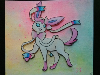 Sylveon Pokemon Paper Craft