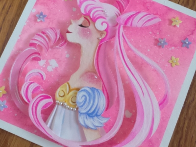 Princess Lady Serenity Paper Craft