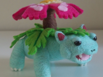 Venusaur Pokemon Needle Felt Plush